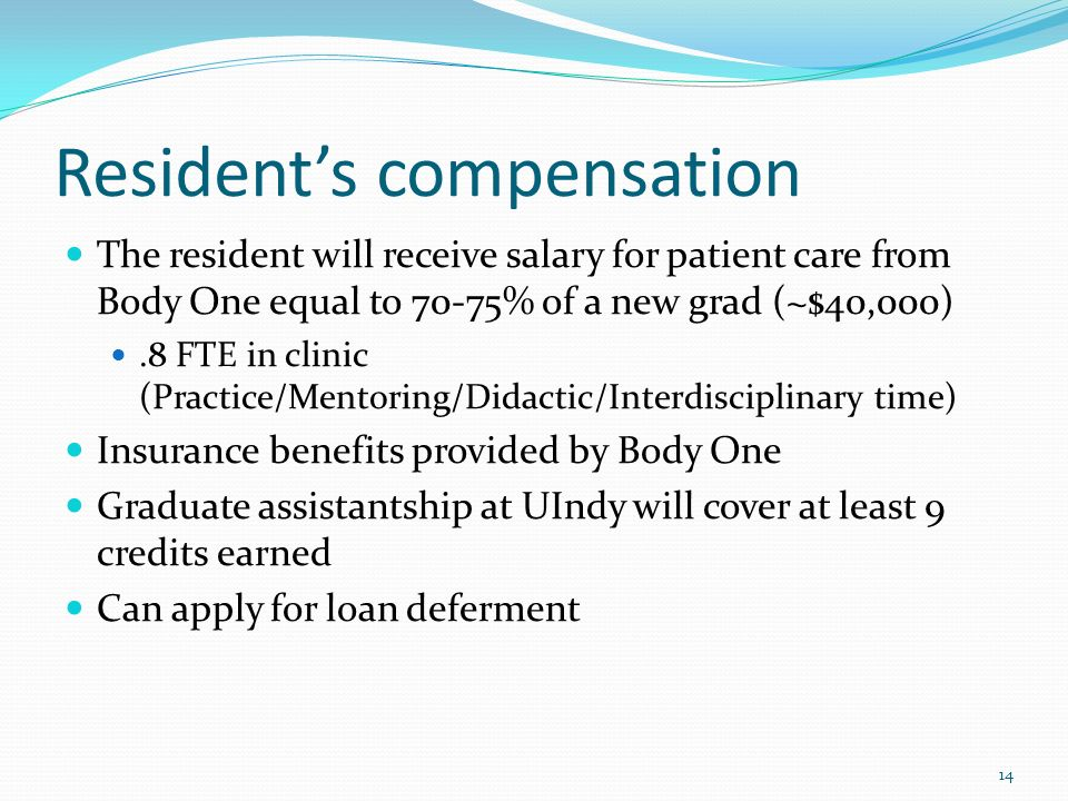 Resident's compensation