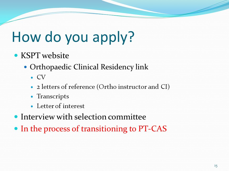 How do you apply KSPT website Interview with selection committee