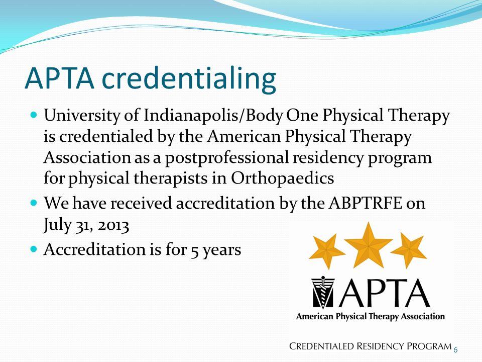 APTA credentialing