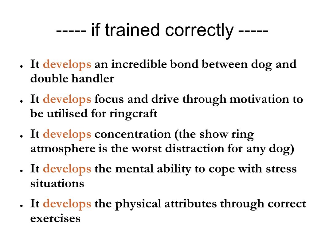 ----- if trained correctly -----