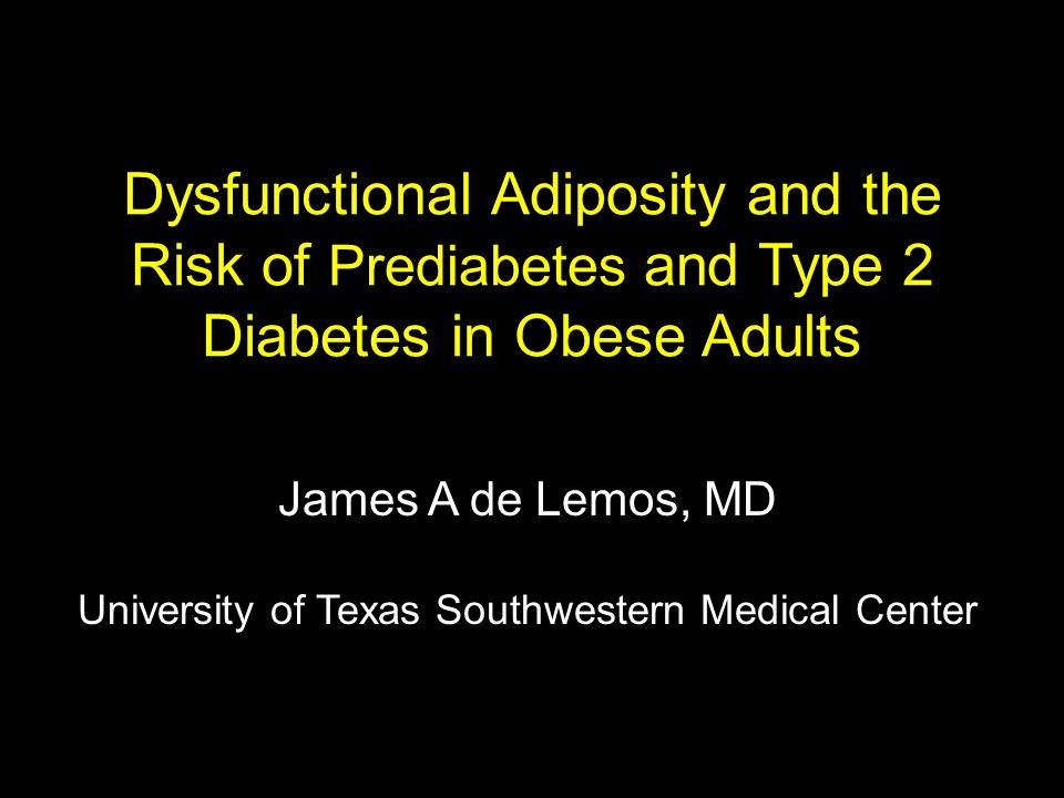 James A de Lemos, MD University of Texas Southwestern Medical Center