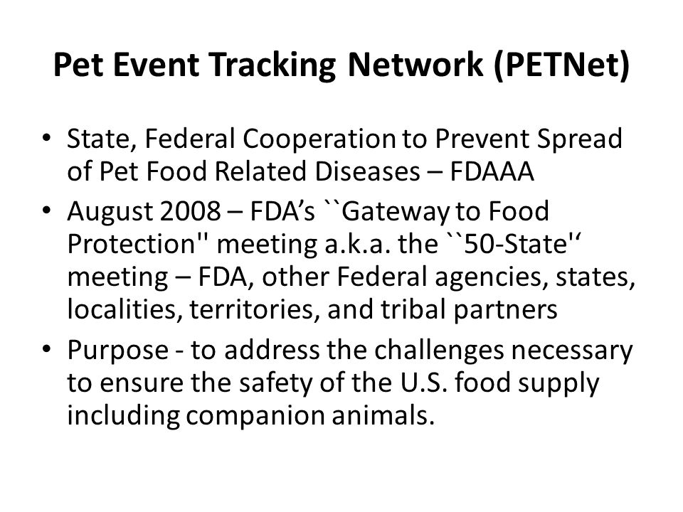 Pet Event Tracking Network (PETNet)