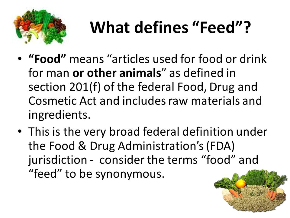 What defines Feed