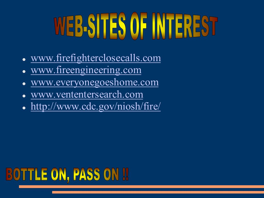 WEB-SITES OF INTEREST BOTTLE ON, PASS ON !!