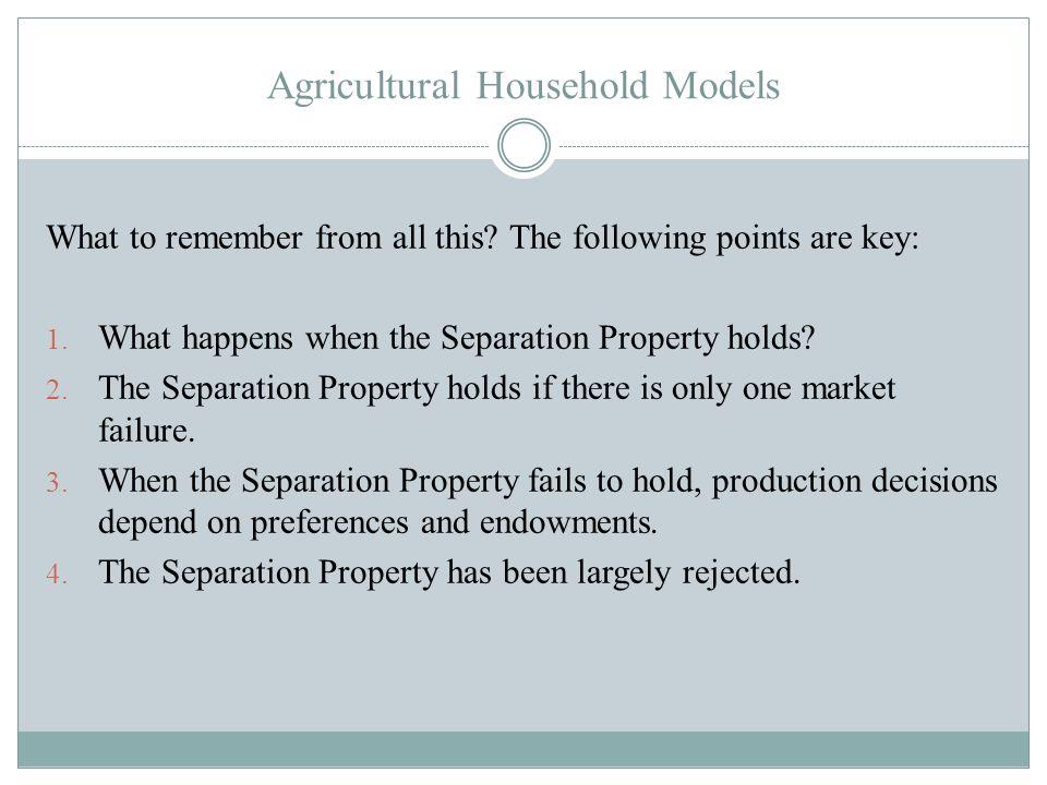 Agricultural Household Models