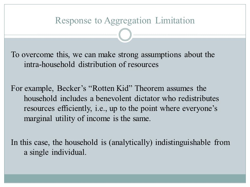 Response to Aggregation Limitation