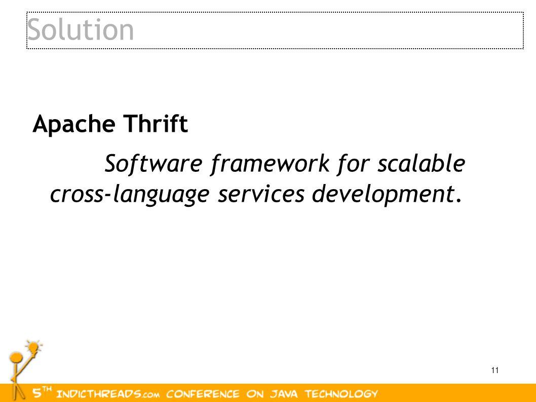 Solution Apache Thrift
