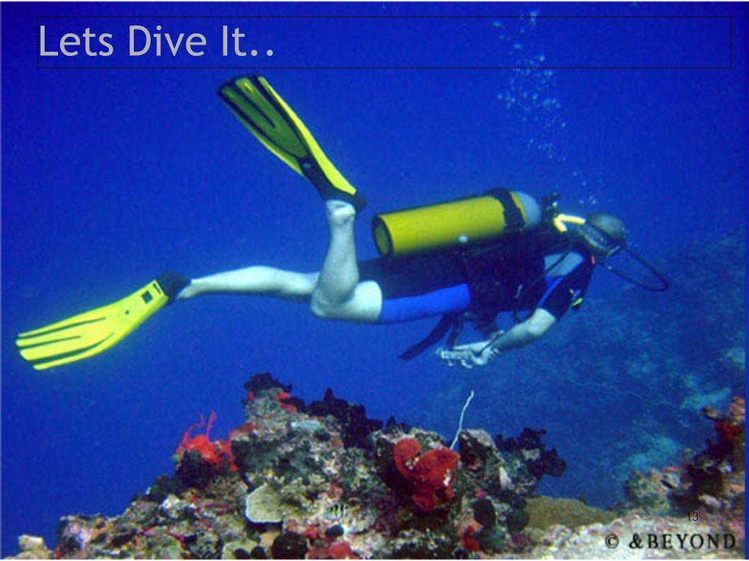 Lets Dive It..