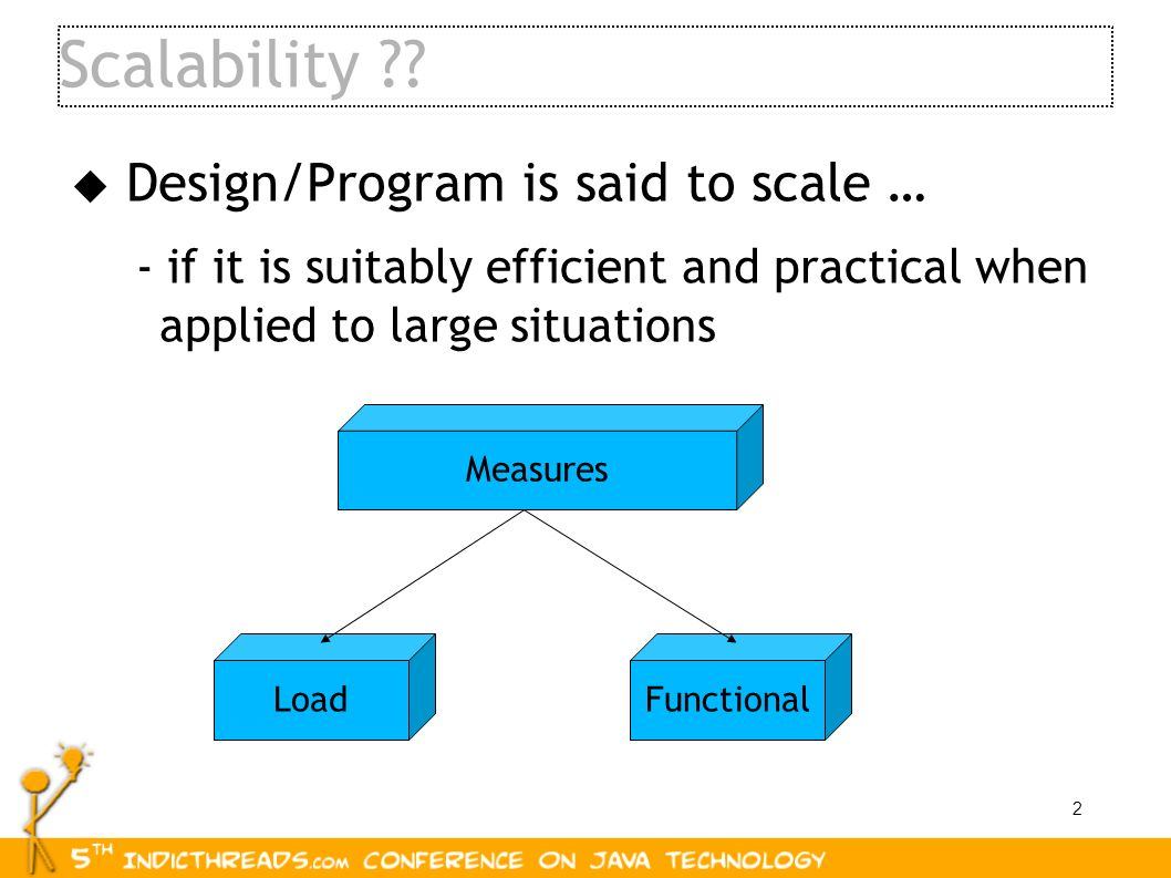 Scalability Design/Program is said to scale …