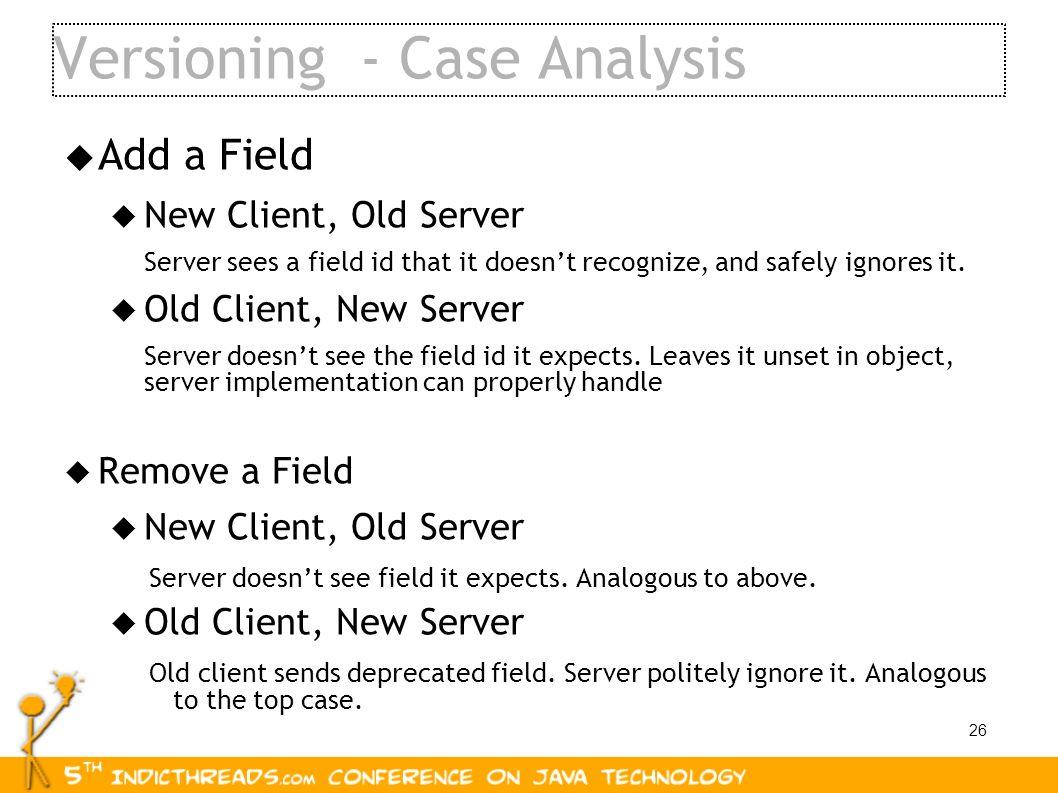 Versioning - Case Analysis