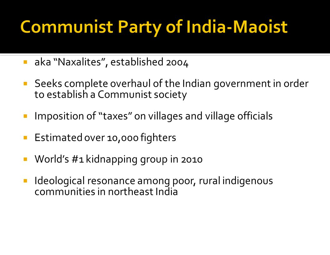 Communist Party of India-Maoist