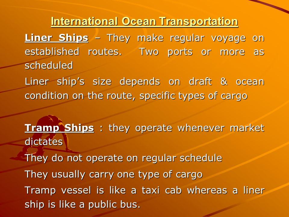 International Ocean Transportation
