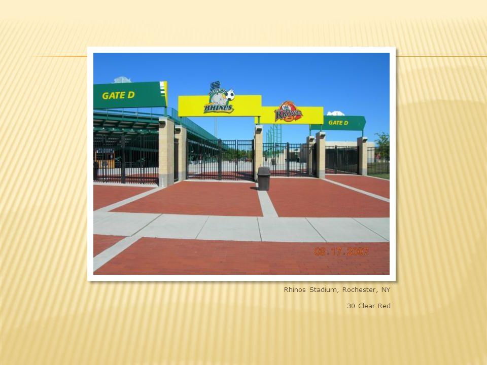 Paetec Park, Rochester, NY 4x8x2-1/4 and 8x8x2-1/4 shade 30