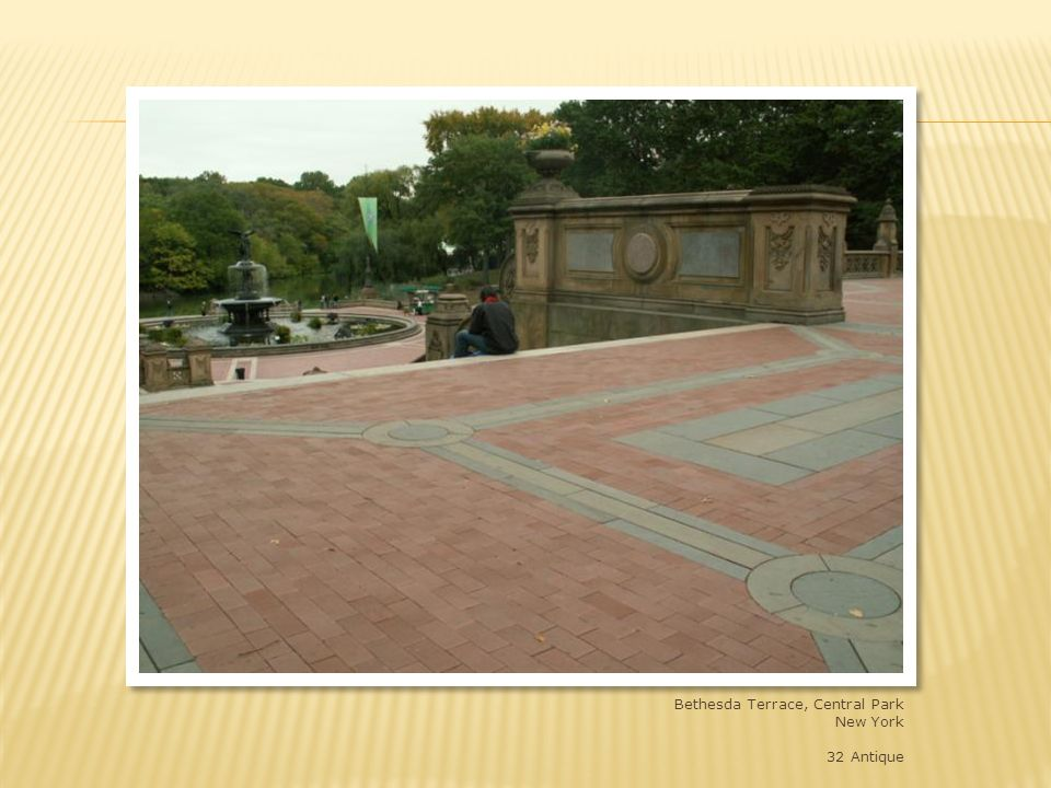 Bethesda Terrace, Central Park, New York, NY – custom size straight edge – 9 x 4-1/2 x 2-1/4 shade 32 – match to historic size