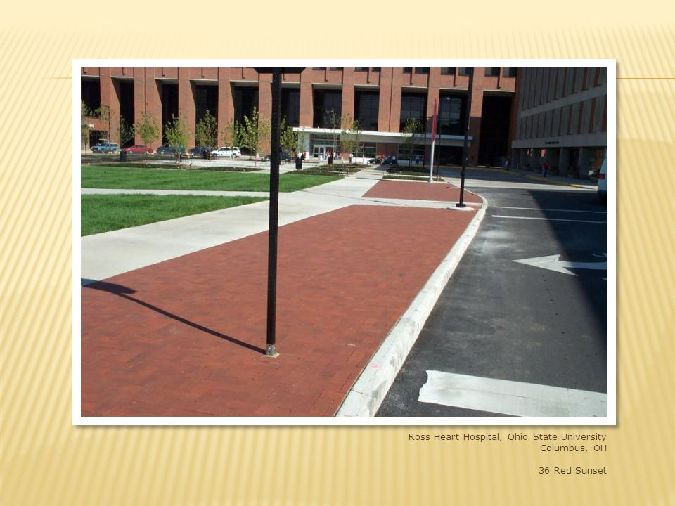 Ross Heart Hospital, Ohio State University, Columbus, OH 4x8x2-1/4 straight edge shade 36