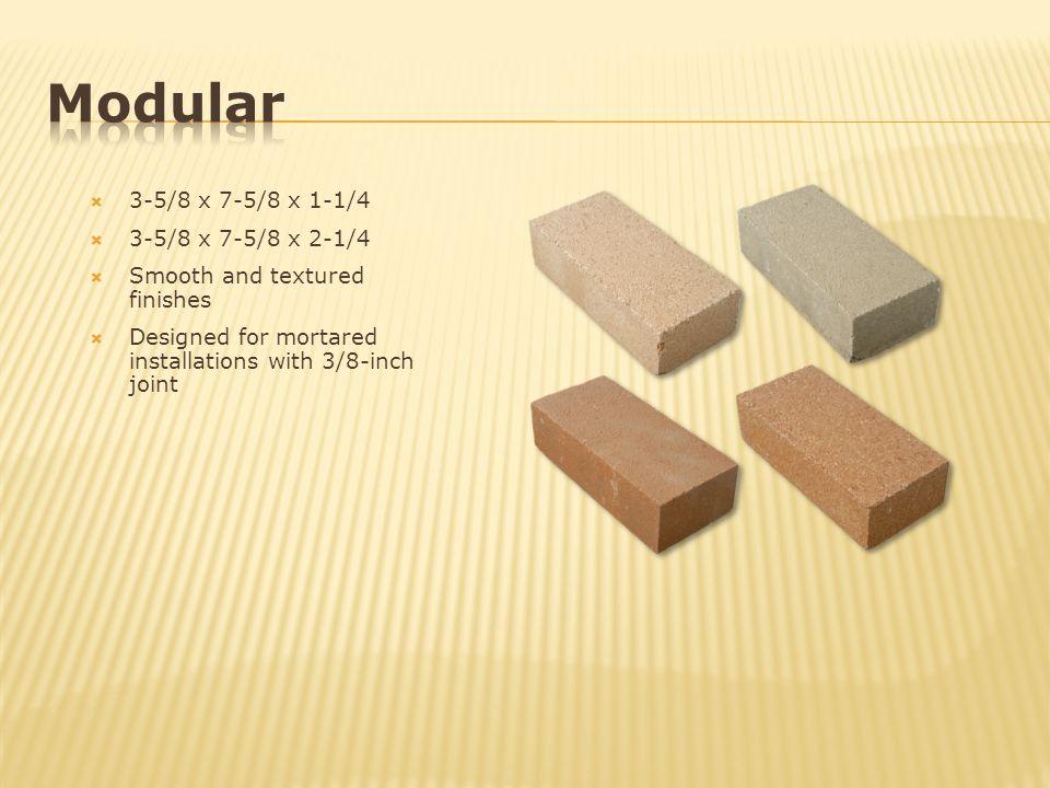 Modular 3-5/8 x 7-5/8 x 1-1/4 3-5/8 x 7-5/8 x 2-1/4