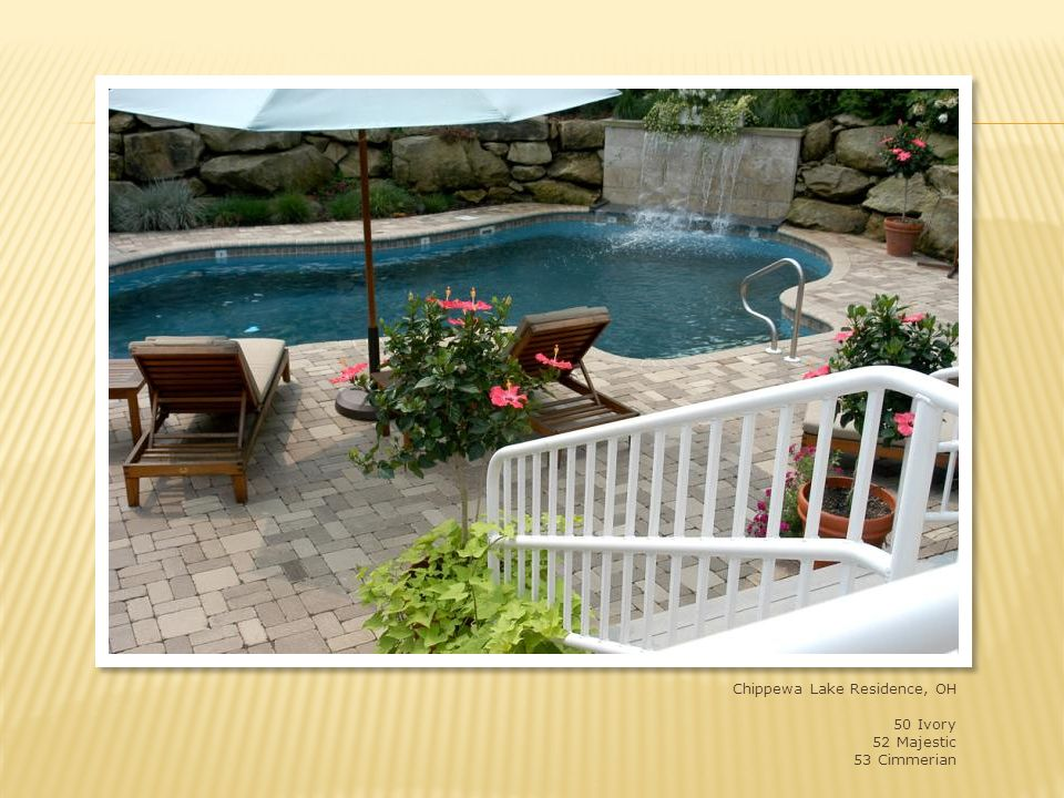 Chippewa Lake residence, NE Ohio 4x8x2-1/4 and 8x8x2-1/4 blend of shades 50, 52 and 53
