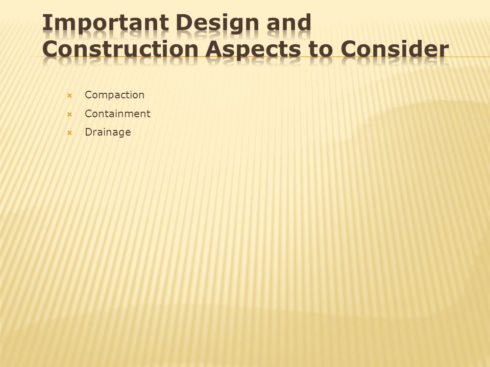 Important Design and Construction Aspects to Consider