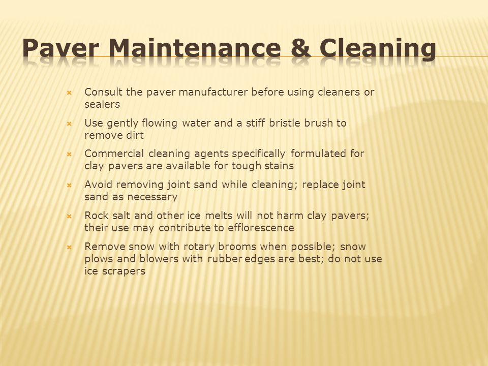 Paver Maintenance & Cleaning