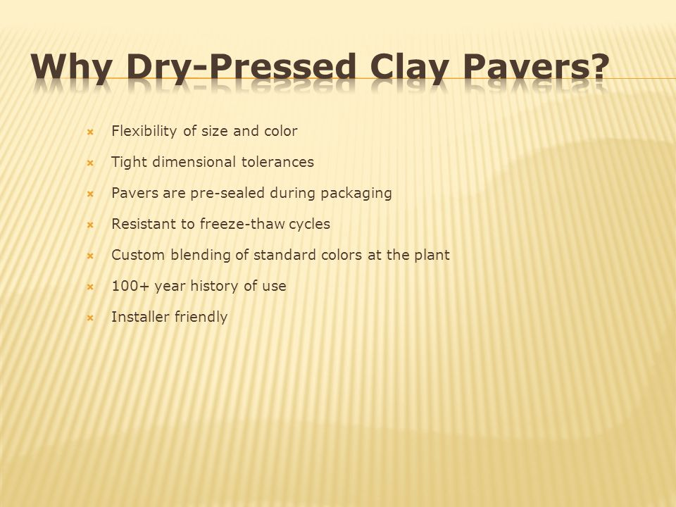 Why Dry-Pressed Clay Pavers
