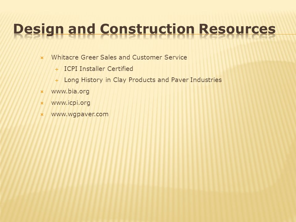Design and Construction Resources