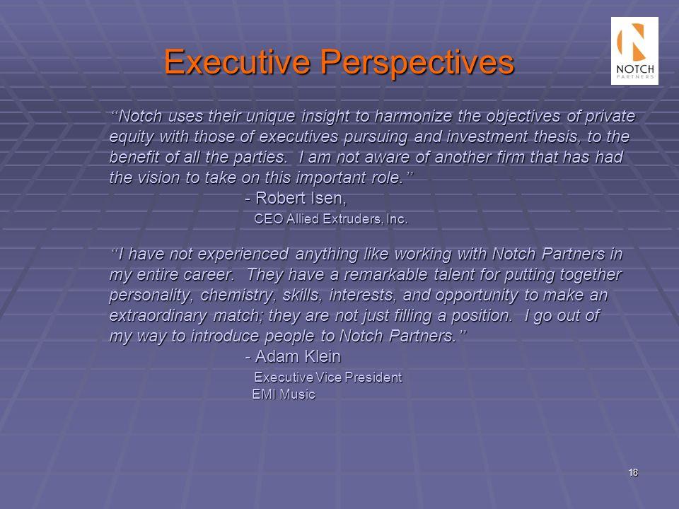 Executive Perspectives