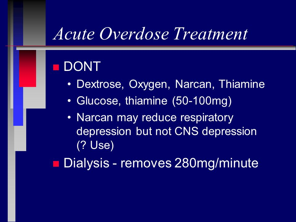 Acute Overdose Treatment