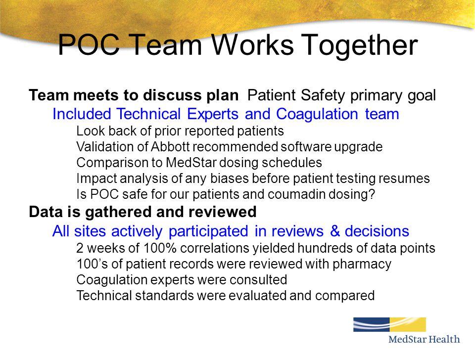 POC Team Works Together