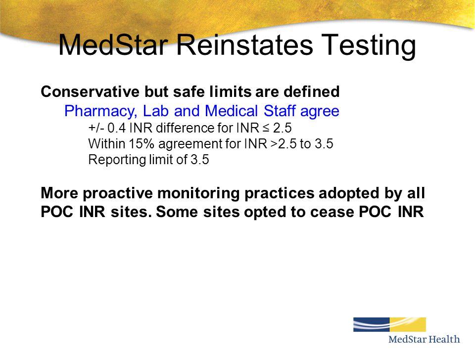 MedStar Reinstates Testing