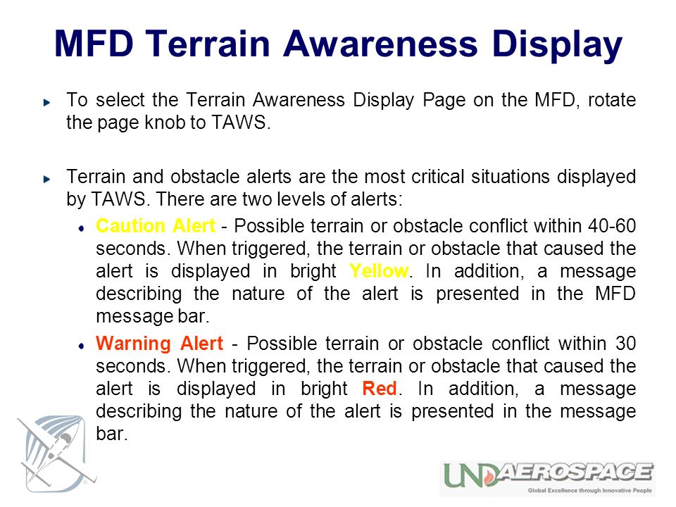 MFD Terrain Awareness Display