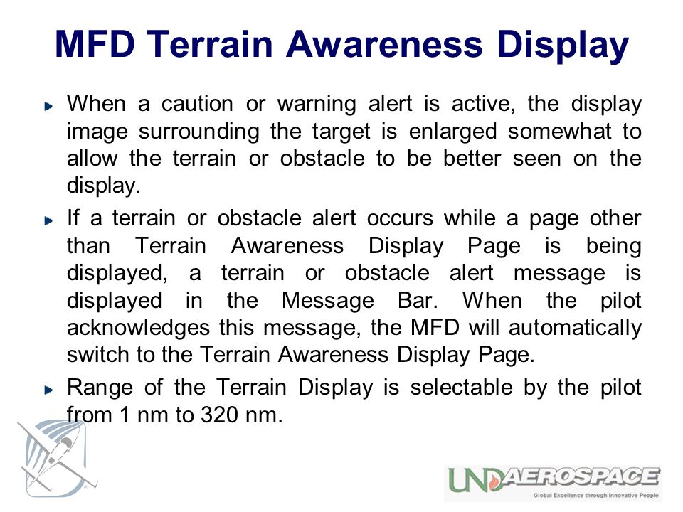 MFD Terrain Awareness Display