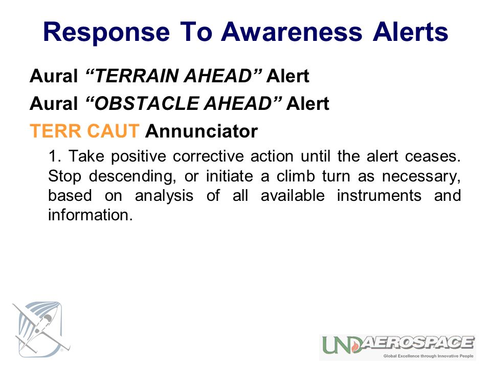 Response To Awareness Alerts