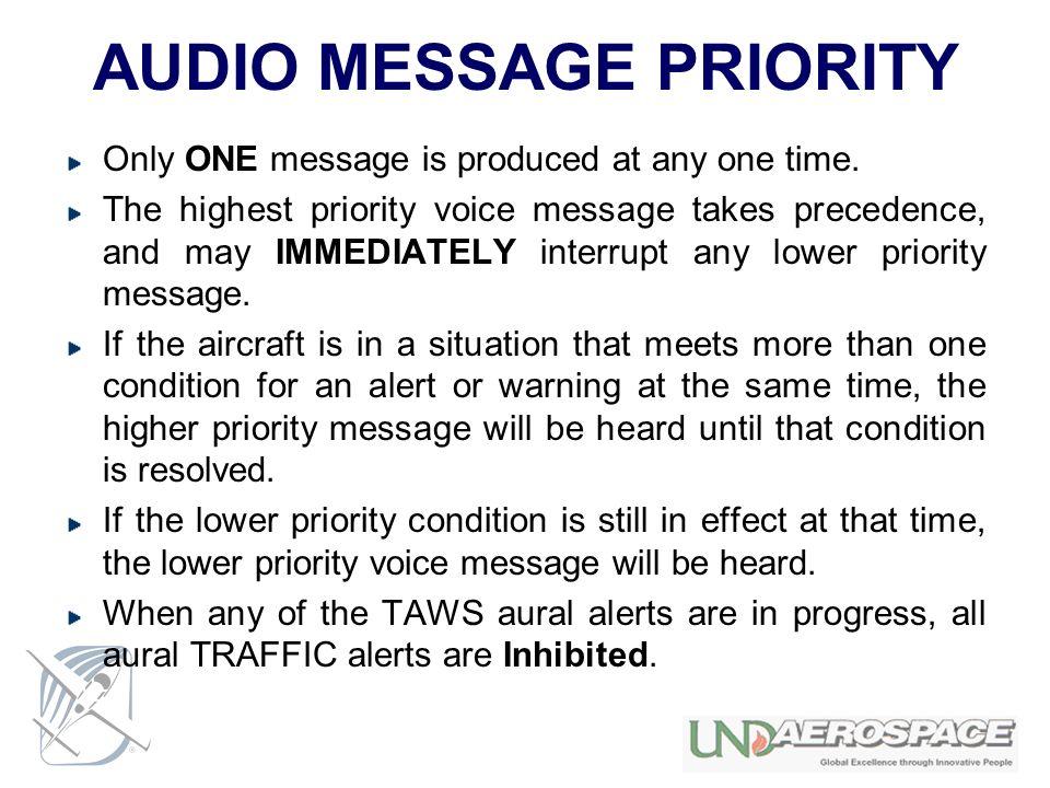 AUDIO MESSAGE PRIORITY