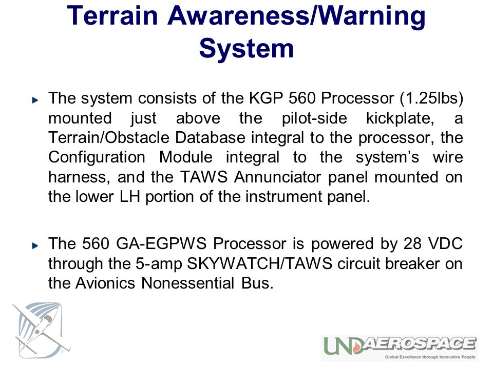 Terrain Awareness/Warning System