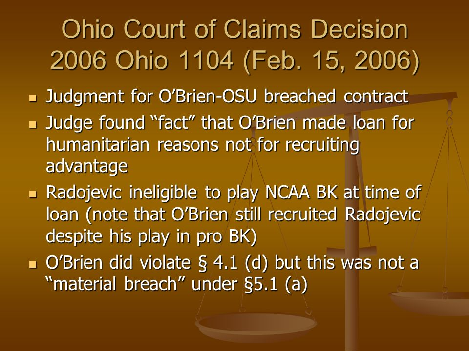 Ohio Court of Claims Decision 2006 Ohio 1104 (Feb. 15, 2006)