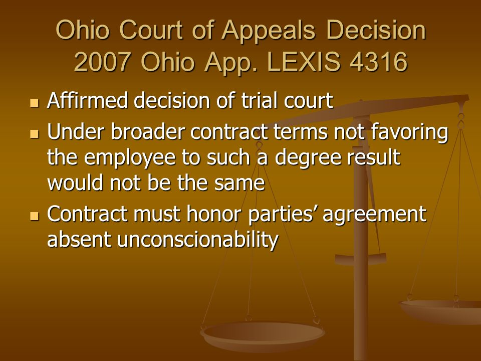Ohio Court of Appeals Decision 2007 Ohio App. LEXIS 4316