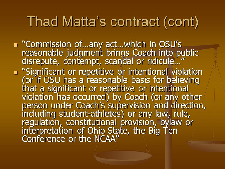 Thad Matta's contract (cont)