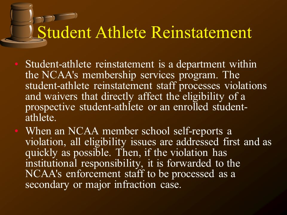 Student Athlete Reinstatement
