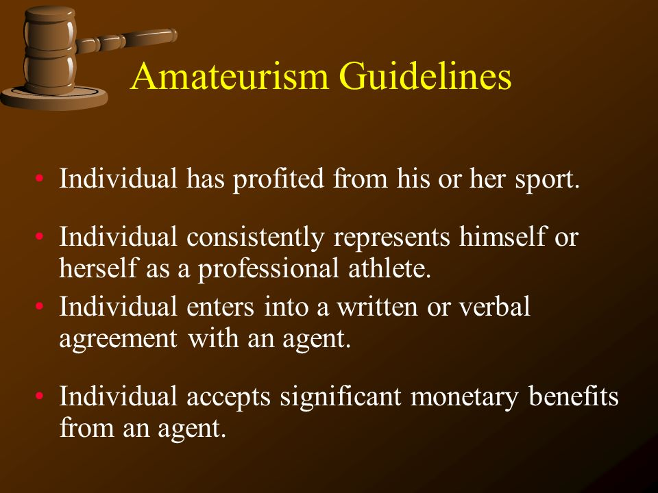 Amateurism Guidelines