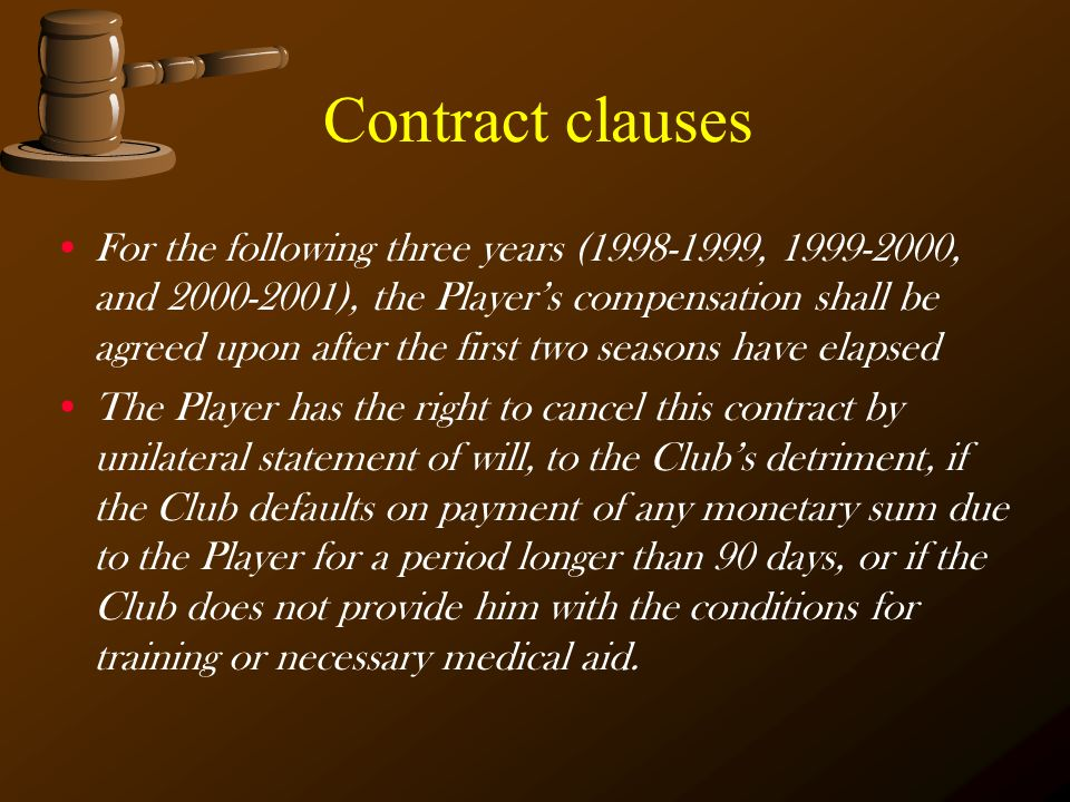 Contract clauses