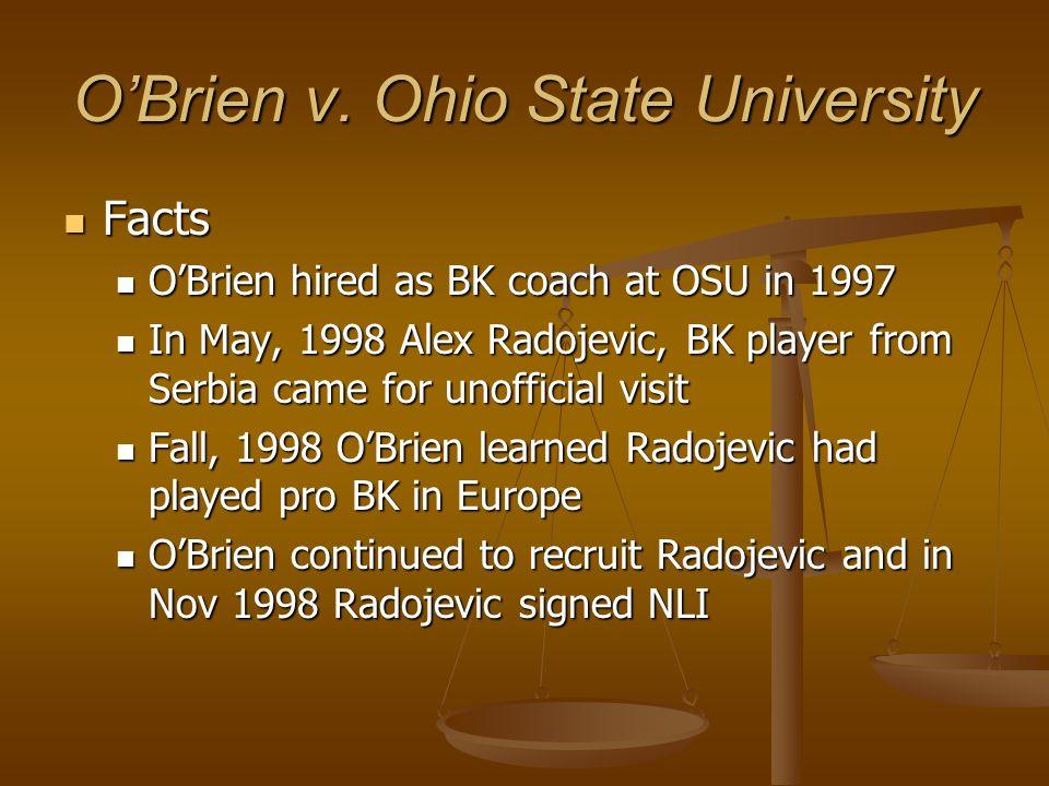 O'Brien v. Ohio State University