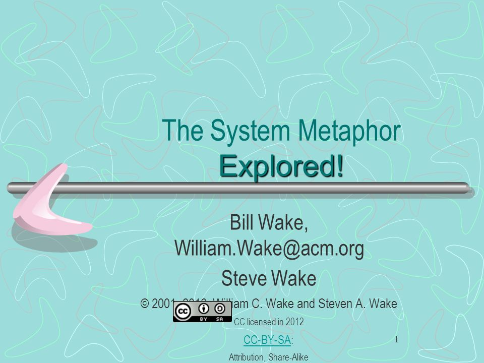 The System Metaphor Explored!