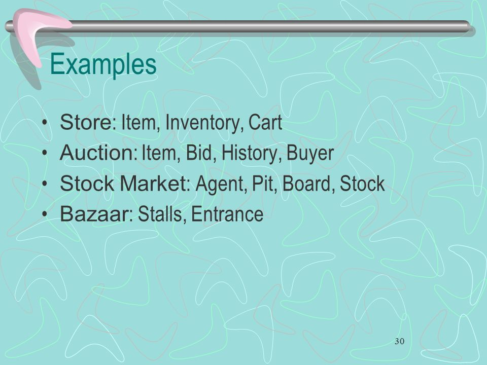 Examples Store: Item, Inventory, Cart