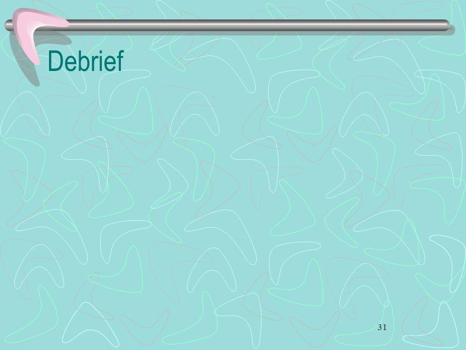 Debrief 31