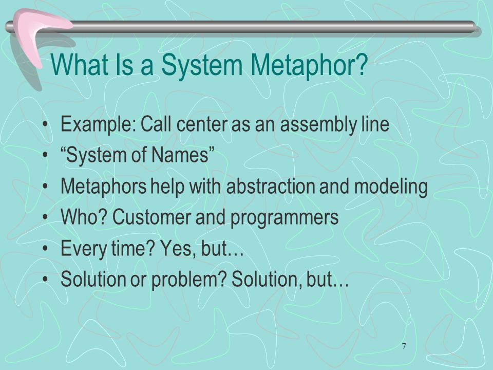 What Is a System Metaphor