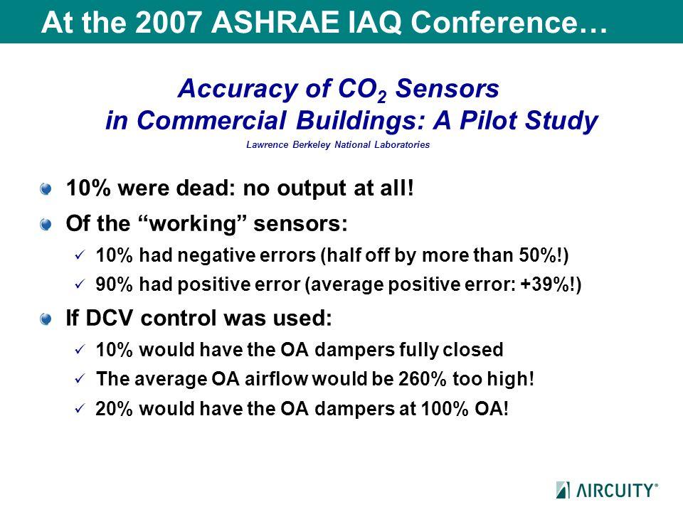 At the 2007 ASHRAE IAQ Conference…
