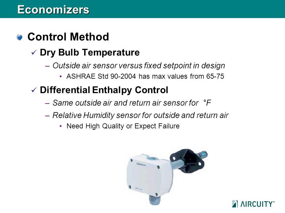 Economizers Control Method Dry Bulb Temperature