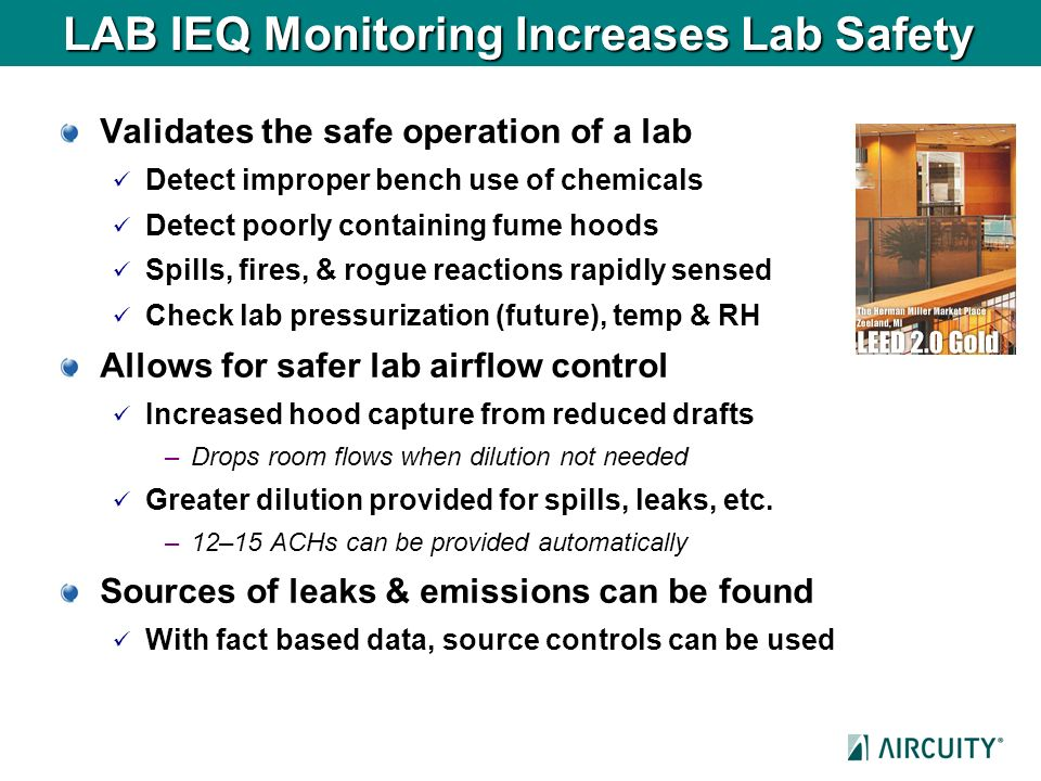 LAB IEQ Monitoring Increases Lab Safety