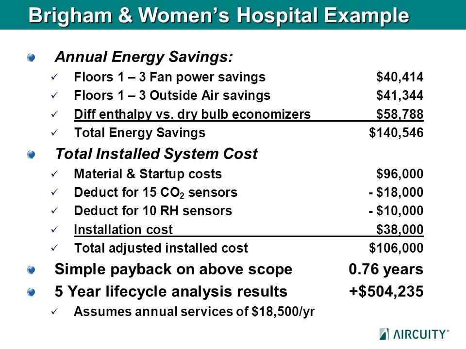 Brigham & Women's Hospital Example