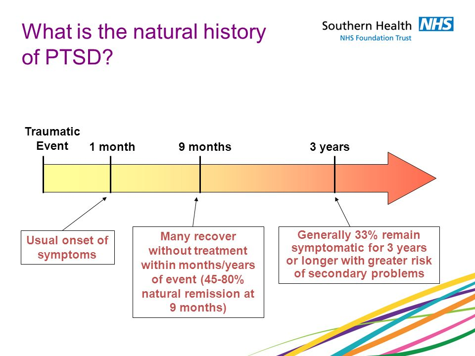What is the natural history of PTSD